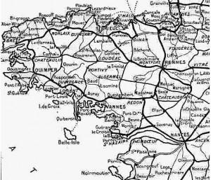 Réseau ferré breton au début du XXème siècle